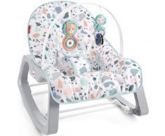 Fisher-Price Babyschaukel 2in1 Baby Schaukelsitz, bis 18 kg, mit Spielbogen und Wiegefunktion für Babys bunt Schaukel Wippen Outdoor-Spielzeug