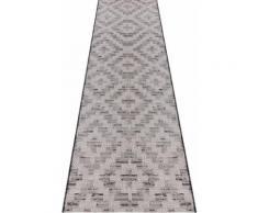 ELLE DECORATION Läufer Creil, rechteckig, 3 mm Höhe, In- und Outdoorgeeignet grau Teppichläufer Bettumrandungen Teppiche