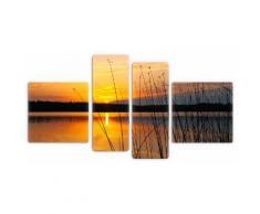 Premium collection by Home affaire Glasbild Sonnenuntergang am See, orange, orange schwarz