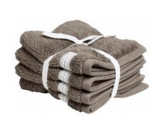 Gant Waschlappen Organic Premium braun Waschhandschuh und Handtücher Badetücher