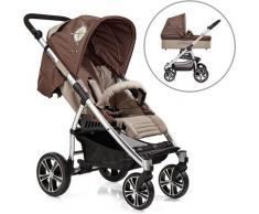 Gesslein Kombi-Kinderwagen S4 Air+, Eloxiert/Nautik & Babywanne C3 Nautik braun Kinder Kombikinderwagen Kinderwagen Buggies