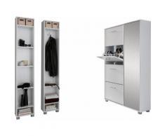 Schildmeyer Garderoben-Set Nadin (Set 3-tlg), weiß, weiß