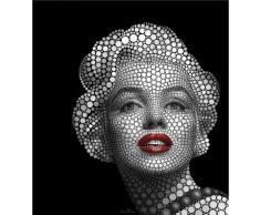 Vliestapete Ben Heine Circlism: Marilyn Monroe schwarz Fototapeten Tapeten Bauen Renovieren