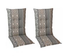 GO-DE Sesselauflage Mittellehner grau Gartenstuhlauflagen Gartenmöbel-Auflagen Gartenmöbel Gartendeko