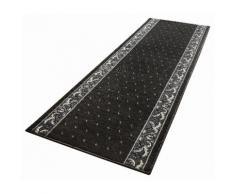 HANSE Home Läufer Floret, rechteckig, 9 mm Höhe, Kurzflor, ringsum gekettelt schwarz Teppichläufer Bettumrandungen Teppiche