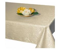 Delindo Lifestyle Tischdecke ROSENZAUBER, Druckdesign, Fleckschutz, 210 g/m² beige Tischdecken Tischwäsche