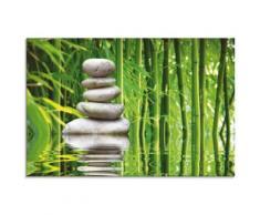 Artland Glasbild Balance, Zen, (1 St.) grün Glasbilder Bilder Bilderrahmen Wohnaccessoires