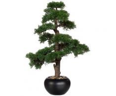 Creativ green Kunstpflanze Bonsai Zeder (1 Stück) grün Künstliche Zimmerpflanzen Kunstpflanzen Wohnaccessoires