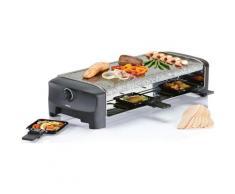 PRINCESS Raclette Stonegrillparty 162830, 8 Raclettepfännchen, 1400 Watt schwarz Küchenkleingeräte Haushaltsgeräte