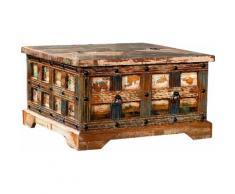 Ploß Couchtisch Jaipur, Aus recyceltem Altholz mit Farbresten, Shabby Chic, Vintage braun Truhen-Couchtische Couchtische Tische Tisch