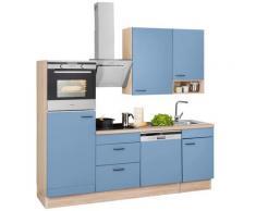 OPTIFIT Küchenzeile ohne E-Geräte »Elga«, Breite 230 cm, blau, lichtblau/eichefarben