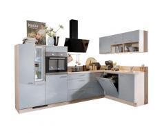 Express Küchen Winkelküche Scafa, ohne E-Geräte, Stellbreite 305 x 185 cm grau L-Küchen Küchenzeilen -blöcke Küchenmöbel Arbeitsmöbel-Sets