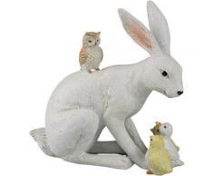 AM Design Osterhase mit Freunden, sitzend, Höhe ca. 19 cm weiß