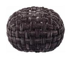 KARE Design Hocker Ovillo, schwarz, schwarz