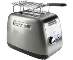 KitchenAid Toaster 5KMT221ECU mit Brötchenaufsatz und Sandwichzange, für 2 Scheiben, 1100 Watt silberfarben Haushaltsgeräte