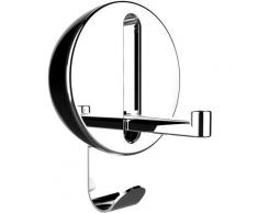 WENKO Klapphaken Premium Delta, ideal für Küche, Bad, WC, Garderobe & gesamten Haushalt, rund schwarz Garderobenhaken Garderoben