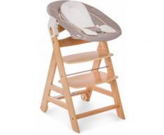Hauck Hochstuhl Beta+ Newborn Set 3in1, Nature Stretch Beige beige Baby Mitwachsende Hochstühle Babymöbel Stühle