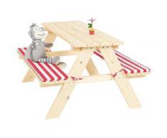 Pinolino Kindersitzgruppe Nicki, Picknicktisch, BxHxT: 90x79x50 cm grau Kinder Sitzgruppen Kinderstühle Stühle Sitzbänke