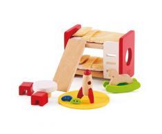 "Hape Puppenhausmöbel ""Kinderzimmer"" (Set 14-tlg), bunt, bunt"