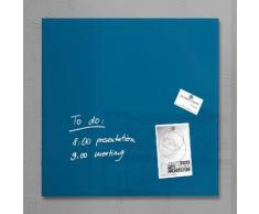 sigel Glas-Magnettafel, blau, petrolblau
