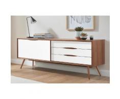 PBJ Designhouse Sideboard stick in walnut oder white oak Breite 200 cm, braun, walnut/Laminat weiß