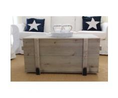 Uncle Joe´s Truhentisch Frachtkiste grau Holz-Couchtische Holztische Tische Tisch