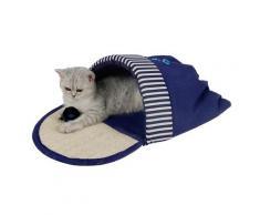 HEIM Tierbett Kuschelschuh Ocean-Style blau Katzenkörbe -kissen Katze Tierbedarf