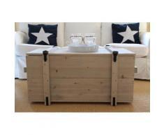 Uncle Joe´s Truhentisch Seefrachtkiste grau Holz-Beistelltische Holztische Tische Tisch