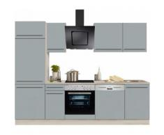 OPTIFIT Küchenzeile mit E-Geräten »Bern«, Breite 270 cm, grau, basaltgrau/akaziefarben