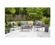 Siena Garden Loungeset Casita, (1x 2er-Sofa, 2x Sessel, 1x Tisch) grau Gartenmöbel Gartenparty Aktionen Themen