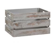 Zeller Present Holzkiste Vintage, (1 St.), Tiefe: ca. 25 cm, Breite: 35 cm grau Kisten Truhen, Körbe Schlafzimmer