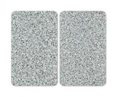 WENKO Herd-Abdeckplatte Universal Granit, (Set, 2 tlg.) grau Küchenaccessoires Wohnaccessoires