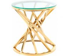 Kayoom Beistelltisch Wesley 125, schöne gedrehte Form farblos Beistelltische Tische