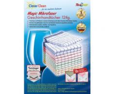 "TELESHOP Geschirrtuch ""CleverCleanMagic Mikrofaser"" (Set 12-tlg), bunt, Neutral, bunt"