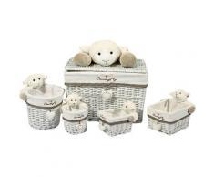 Home affaire Korb-Set Sheep IV, grau, grau / weiß