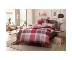 s.Oliver Bettwäsche Tabea, mit GRATIS-Zugabe: 2x Kissenhülle rot nach Größe Bettwäsche, Bettlaken und Betttücher