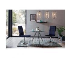 SalesFever Essgruppe, (Set, 5 St.), mit Glastisch und Drehstühlen blau Essgruppen Tische Essgruppe