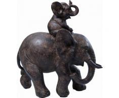 KARE Design Dekofigur Elefant, schwarz, schwarz