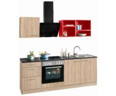 OPTIFIT Küchenzeile Mini, mit E-Geräten, Breite 210 cm EEK B rot Küchenzeilen Geräten -blöcke Küchenmöbel Arbeitsmöbel-Sets