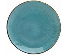 CreaTable Speiseteller NATURE COLLECTION, (Set, 6 St.), Ø 27 cm, Steinzeug blau Teller Geschirr, Porzellan Tischaccessoires Haushaltswaren