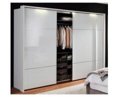nolte Möbel Schwebetürenschrank Marcato 3, weiß, Front Weißglas,Korpus polarweiss