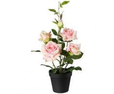 Creativ green Kunstpflanze Rosenbusch, im Topf rosa Künstliche Zimmerpflanzen Kunstpflanzen Wohnaccessoires