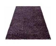 Ayyildiz Hochflor-Teppich Enjoy Shaggy, rechteckig, 50 mm Höhe, Wohnzimmer lila Schlafzimmerteppiche Teppiche nach Räumen