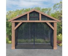 WESTMANN Pavillonseitenteile, für Holzpavillon Yukon 14x12 schwarz Pavillonseitenteile Pavillons Garten Balkon
