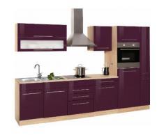 HELD MÖBEL Küchenzeile Eton, mit E-Geräten, Breite 330 cm EEK C lila Küchenzeilen Geräten -blöcke Küchenmöbel Arbeitsmöbel-Sets