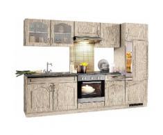 wiho Küchen Küchenzeile Linz, mit E-Geräten, Breite 270 cm, Cerankochfeld EEK C braun Küchenzeilen Geräten -blöcke Küchenmöbel Arbeitsmöbel-Sets