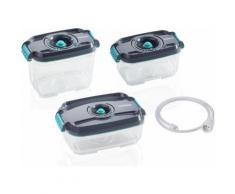 Leifheit Frischhaltedose Vakuum Set 3233 (4-tlg.) grau Aufbewahrung Küchenhelfer Haushaltswaren Lebensmittelaufbewahrungsbehälter