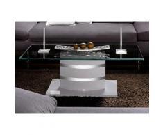 Paroli Couchtisch weiß Glas-Couchtische Glastisch Tische Tisch