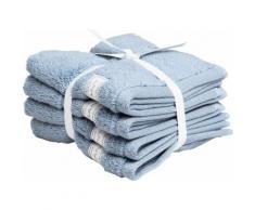 Gant Waschlappen Organic Premium blau Waschhandschuh und Handtücher Badetücher