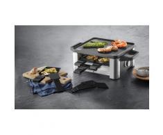WMF Raclette LONO for 4, 4 Raclettepfännchen, 870 Watt silberfarben Küchenkleingeräte Haushaltsgeräte